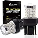 VANSYROY 7443 7440 7441 7444 WY21W T20 LED Bulbs Brilliant Red, Super Bright 58-SMD with Projector Replacement for Brake Stop Tail Light, Turn Signal/Backup Light/Parking Running Lights (Pack of 2)