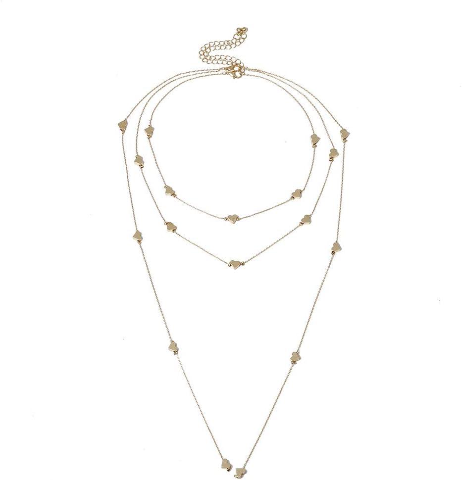 Washington Mall Max 70% OFF discountstore145 Women's Pendants Mulltilayer Charm Neckla Heart