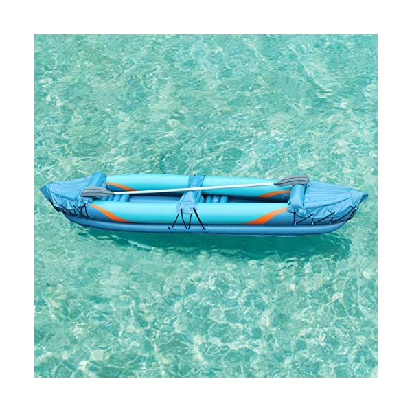 Inflatafun 2 Man Inflatable Kayak Aluminium Oars Person Canoe Boat Blow Up Paddle Water Raft