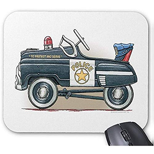 Mause Mat Polizei Tretauto Cop Auto Mauspad Computer Zubehör Spielmatte Mousepad 25X30Cm