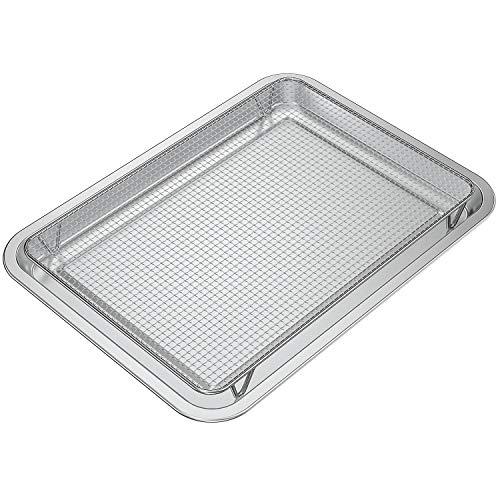Onlyfire Brat- und Backblech mit Küchengitter,universeller IKEA Edelstahl Backblech für Rauchergrill Pelletgrill