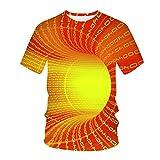 Womteam Unisex 3D Impreso Camisetas Verano Casual Manga Corta Camisetas Casual Slim Top O-cuello Blusa