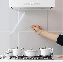 3 Stuks oliebestendige muurstickers, behang voor in de keuken, spatwand muurbeschermer, transparant waterdicht hittebesten...
