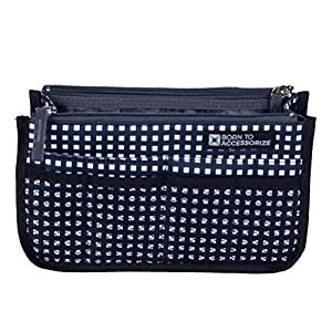 Handbag Purse Organizer in Premium Polyester – Sturdy Bag Insert with 13 Pockets