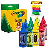 CRAYOLA Kids Hand Sanitizer Gel, (8-Pack) 2 oz Travel Size, 75% Ethyl Alcohol, Advanced No-Rinse Moisturizing Gel, Made in USA, 4 Colorful Matching Keychain Backpack Holders Included.…