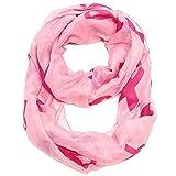 Falari Women's Pink Ribbon Breast Cancer Symbol Infinity Scarf IF0035-P