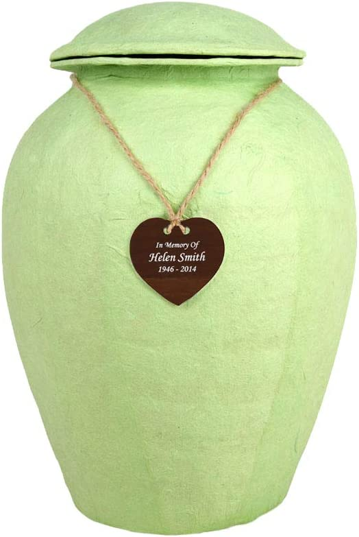 Perfect All Free shipping items free shipping Memorials Custom Engraved Handmade Seafoam Natural Large