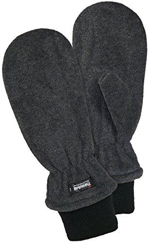 Harrys-Collection Fleece Fäustling mit Thinsulate, Farben:dunkelgrau, Handschuhgröße:Herren