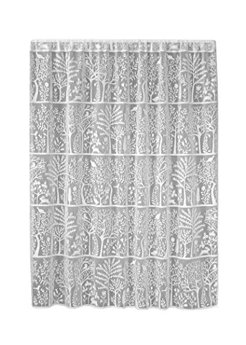 Heritage Lace Rabbit Hollow 60x63, White Panel, 60 by 63-Inch