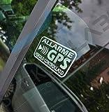 StickersLab - Adesivi Allarme GPS antifurto satellitare per Evitare i furti Auto Moto Camion Caravan (Bianchi, 8 Pezzi (6x3cm))