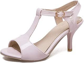 BalaMasa Womens ASL06895 Pu Stiletto Heels