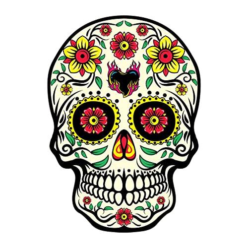 Ylzh Cráneo mexicano Skull Pegatina de coche Graffiti Esqueleto Ghost Pegatinas de motocicleta Portátil Patineta Casco 15X18cm (Color : 6)