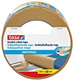 tesa UK 56172-00004-11 Strong Double Sided Adhesive Tape for Fixing Carpets, 25 m x 50 mm