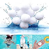 JPC Bolas de Filtro de Piscina, 700g Filtro de Piscina Filter Balls Alternative para 25KG Filtro de Arena, Bolas de Filtro para Piscinas Interiores y Exteriores