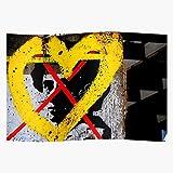 Myxtur Rosa Luxemburg Wall Graffiti Germany Berlins Yellow
