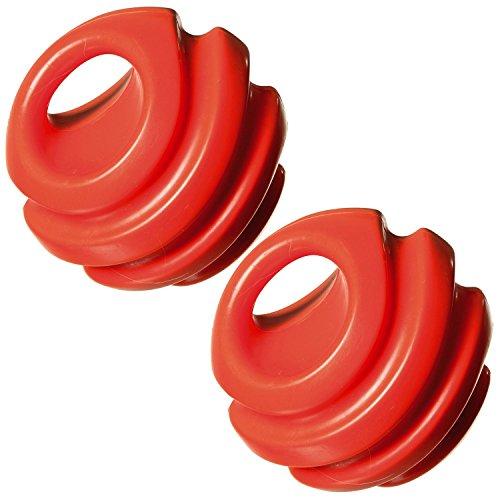 HAC24 2er Set Hundeball Orange Apportierspielzeug Spielball Hundespielzeug Gummiball