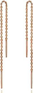 Gintan Sterling Silver Threader Earrings, Gold Chain Earrings Hypoallergenic Threader Dangly Earrings Ear Threader Earring...