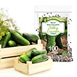 Delxo Pickling Cucumber Seeds for Planting Home Garden, 100+ Heirloom Straight 8 Cucumber Seeds,100%...