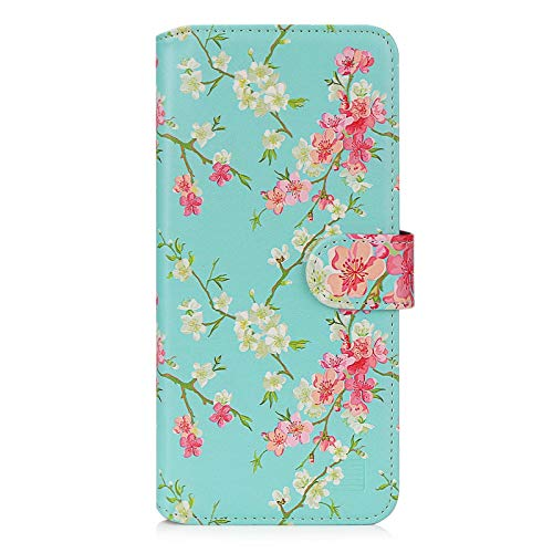 32nd Floral Series 2.0 - Design PU Leather Book Wallet Case Cover for Motorola Moto G9 Power, Designer Flower Pattern Wallet Style Flip Case With Card Slots - Spring Blue