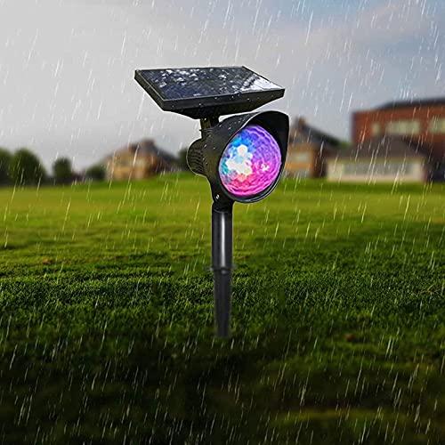 FGDFGDG LED al Aire Libre LED Proyectores al Aire Libre Cambio de lámpara de proyección rotativa de Color Adaptada para jardín al Aire Libre, callejalas Impermeables
