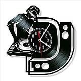 DJ vinilo disco reloj de pared estilo retro reloj de pared...
