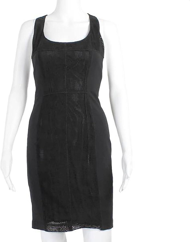 ILLIA Womens Matte Lazer TBack Dress Black