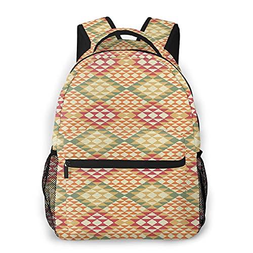 LUDOAN Sac à dos pour ordinateur portable de voyage,couverture d'impression numérique amérindienne,sac à dos antivol résistant à l'eau pour affaires mince et durable