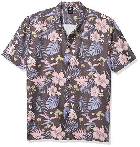 NEFF Men's Daily Button Up Hawaiian Style Patterned Pool Side Shirt, Island Dweller, XX-Large