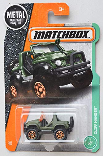 Matchbox Jeep Cliff Hanger Green MBX Series 1:64 Scale Collectable Die Cast Model Car #124/125