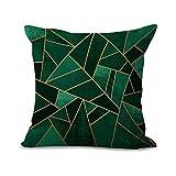 Kissenüberzug mit geometrischem Mosaik-Muster, aus Baumwolle und Leinen, 45x 45cm,...