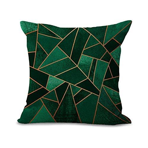 Kissenüberzug mit geometrischem Mosaik-Muster, aus Baumwolle und Leinen, 45x 45cm, MY-G1027–01#09