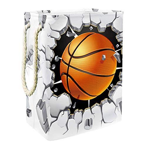 TIZORAX Wäschekorb für Basketball und alte Gips, 1 Stück, Oxford-Stoff, faltbar, Staubeimer, Wäschekorb