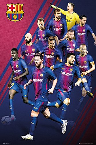 Lionel Messi Barcelona FC Soccer Football Sports Poster 24 x 36 inches
