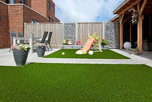 Evergreen Caligo Supreme Kunstrasen/Rasenteppich/Balkonrasen/Rollrasen/UV-beständig/Höhe: 30mm, Farbe: Grün/Meterware, 100x200cm