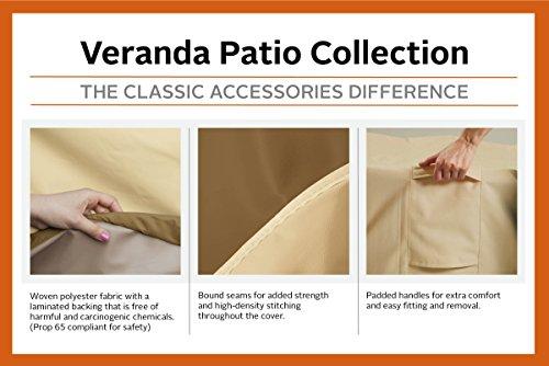 Classic Accessories Patio-Heizpilz-Abdeckung für die Terrasse, Kiesel, Passend für Heizpilze bis zu 86,36 cm Kuppel und 46,99 cm Boden - 3