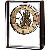 DINEGG Reloj Retro Sentado, dial de Metal Abierto con números Romanos Material de Cristal Relojes de Chimenea para Sala de Estar, Cocina, Oficina y decoración del hogar (Color: Transparente) QQQNE