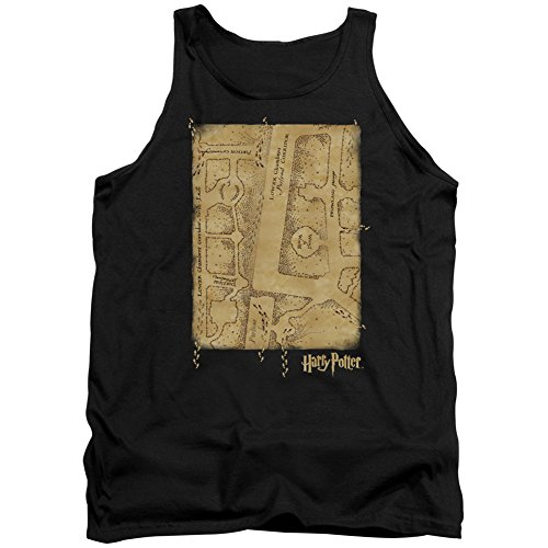 Harry Potter - Camiseta interior para hombre, diseño de mapa de Merodeador - Negro - XX-Large