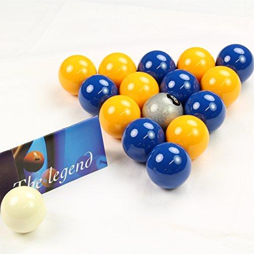 Exklusive. Aramith Premier Silber 8Ball Edition blau & gelb Pool Bälle