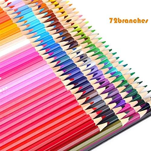 Cheniess 72 Farben Profi-Ölfarbe Holz Bleistiftzeichnung Graffiti Bleistifte Schule Skizze Bleistift Zu Schreiben Malen Artwork Färbung (Color : 72 Colors)