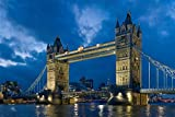 Adult Decompression 1000 Pieces Tower Bridge Dusk Wooden Assembling Decoration For The Home Toy Game Educational Toy For Kids And Adults