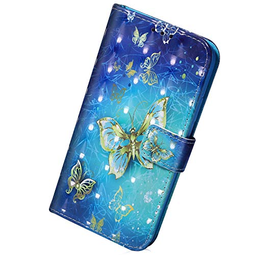 Herbests Hülle Kompatibel mit Sony Xperia L2 Handytasche Brieftasche Handyhülle Glitzer Bling 3D Bunt Glänzende Lederhülle Ledertasche Flip Hülle Cover Klapphülle Schutzhülle,Schädel Mandala