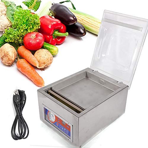 Vacuum Sealer Machine,Commercial Kitchen Food Chamber Tabletop Seal Vacuum Packaging Machine Sealer 110V