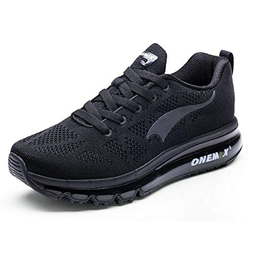 ONEMIX Schuhe Männer Herren Laufschuhe - 3D Knit Luftkissen Leichtgewicht für Walking Gym Jogging Fitness Athletic Outdoor Sport Trainer Sneaker - HH 43
