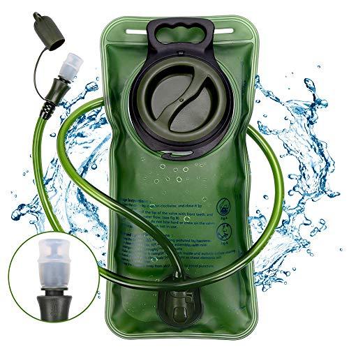 Molbory Trinkblase, Premium BPA Frei Trinkblase 2L mit Beissventil Antibakteriell und Auslaufsicher für Jeden Trinkrucksack Geeignet - Hochwertiges Trinksystem für Sport & Freizeit