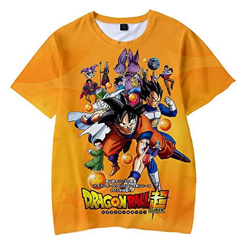 Dragon Ball Maglietta per Bambini T Shirt 3D modalità Cosplay T-Shirt Maniche Corte Son Goku Son Gohan Maglietta Camicia per Bambini