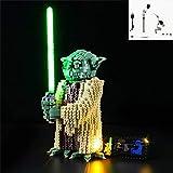 TZH Modelo Kit De Iluminación LED para Lego, Juego De Luces Alimentado por USB Compatible con 75255 Star Wars Master Yoda - No Incluye Modelo