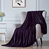 """Walensee Fleece Blanket Plush Throw Fuzzy Lightweight (Throw Size 50""""x60"""" Purple) Super Soft Microfiber Flannel Blankets for Couch, Bed, Sofa Ultra Luxurious Warm and Cozy for All Seasons"""