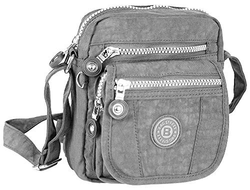 Jennifer Jones Handtasche / Schultertasche / Umhängetasche klein, S, Grau