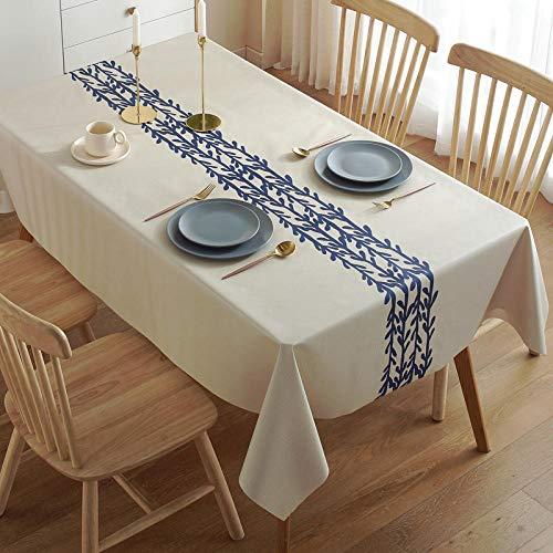 Nice-DoormatsMantel Impermeable, a Prueba de Aceite, Anti-Quemaduras Mesa de Comedor Mantel Rectangular Mantel de té Mantel de Mesa-Mimbre_El 120 * 160cm