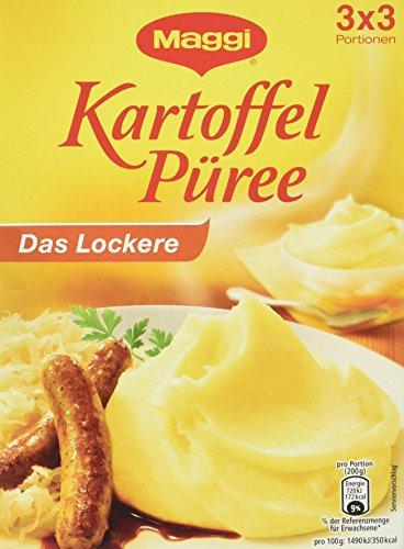 Maggi Kartoffel Püree, das Lockere, 80 g Beutel, 3 x 3 Portionen